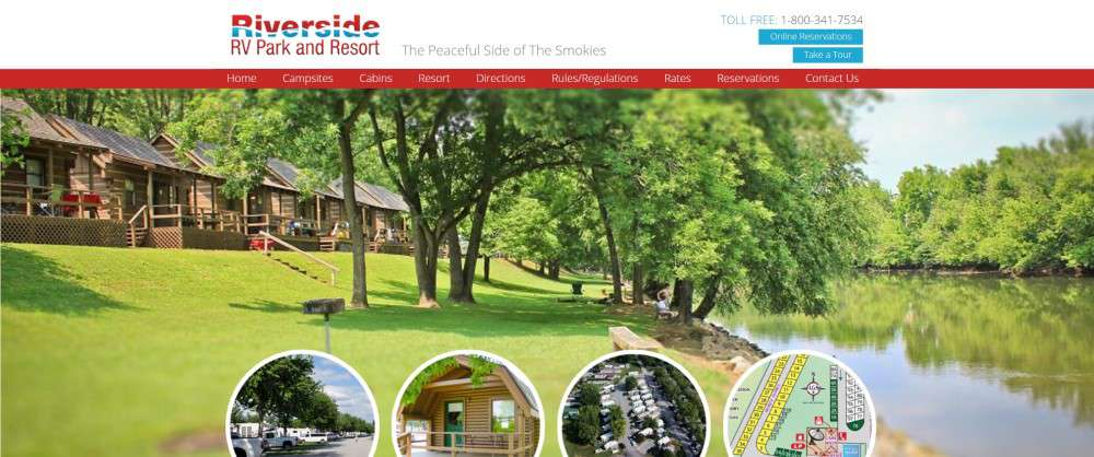 Image with information about Riverside RV Park and Resort