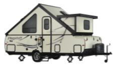 example of an A-framed pop up camper