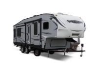 Image of a fifth wheel rv