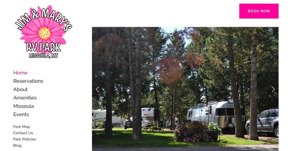The Website of Jim and Mary's RV Park