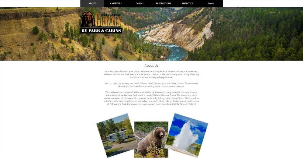 The Website of Yellowstone Grizzly RV Park and Cabins